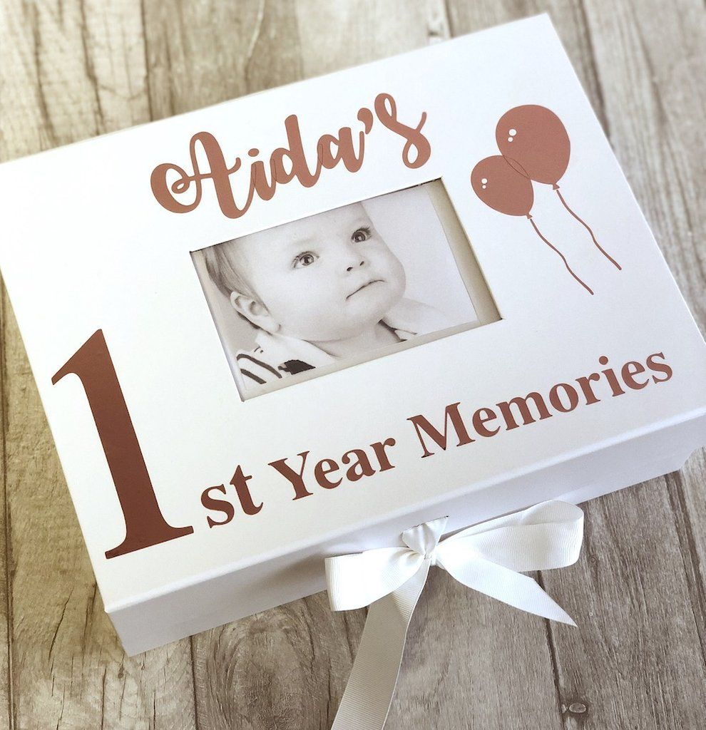 Personalised Baby Photo Box A4 1st Birthday Gift Memory