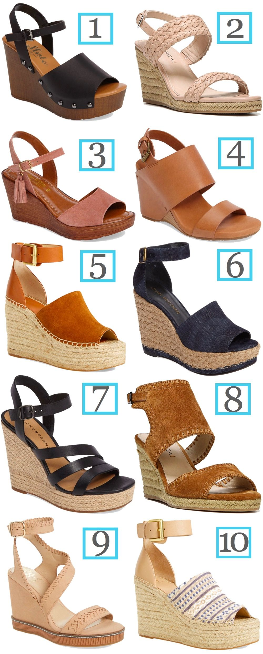 Try any one of these comfortable wedge sandals for spring and summer. Learn the tricks for getting the comfortable pairs and see all the chic options.