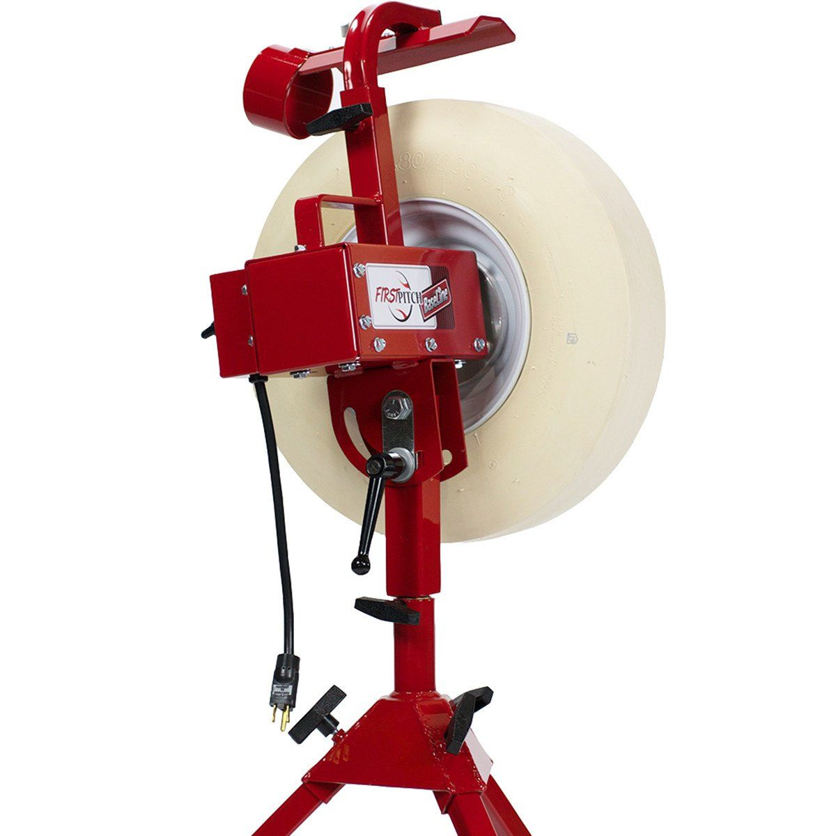 First Pitch Baseline Real Softball And Baseball Pitching Machine Up To With Images Pitching Machine Baseball Pitching Baseball