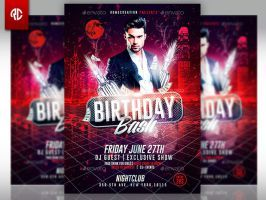 Birthday Bash Classy Flyer Template By Romecreation Flyers