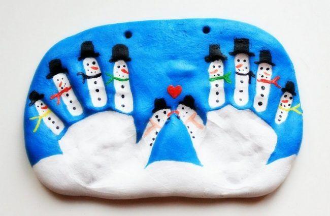 Basteln mit kleinkindern salzteig handabdr cke basteln pinterest kindergarten winter and xmas - Kindergarten weihnachtsbasteln ...