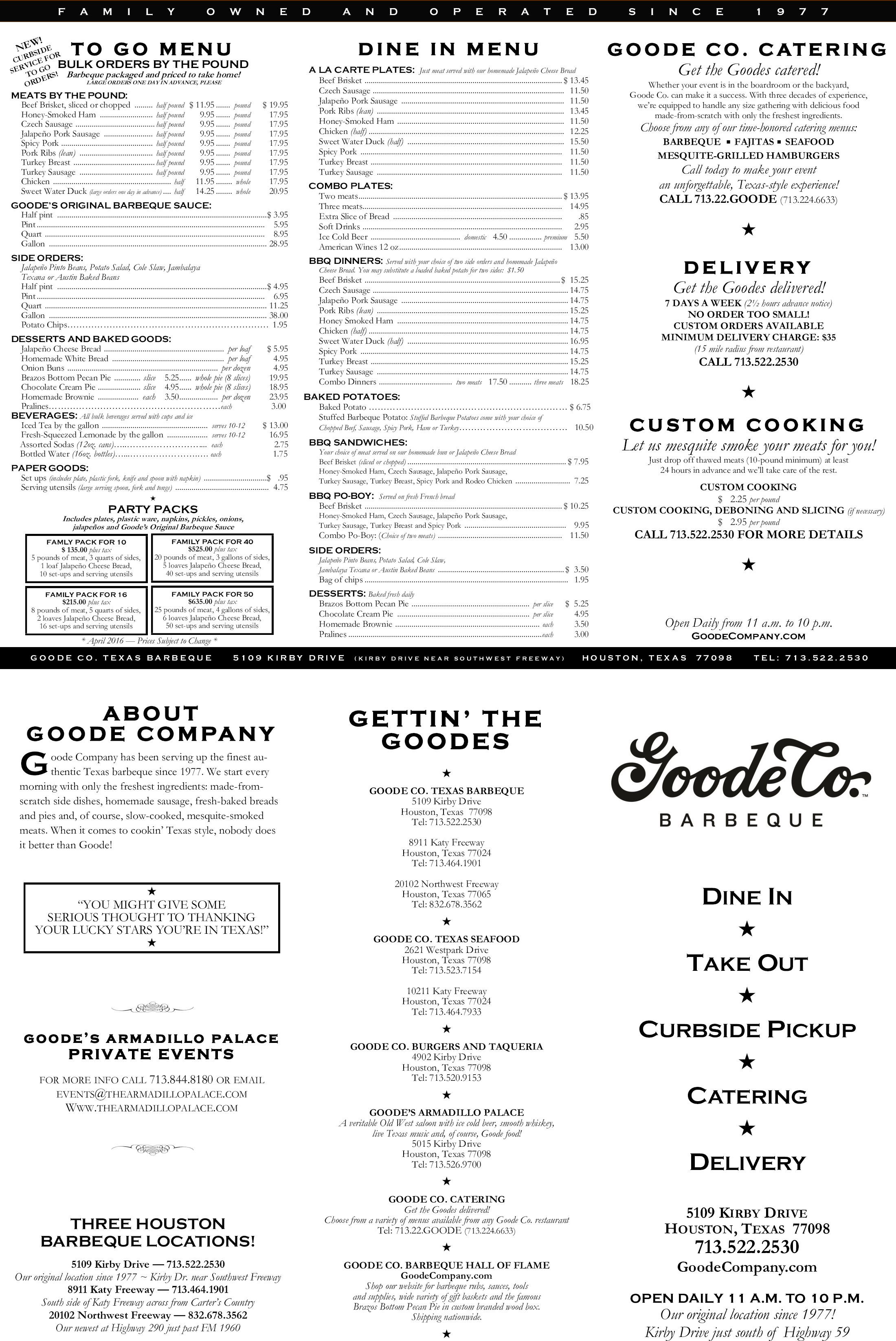 Goode Company Bbq Is Located In Houston Texas