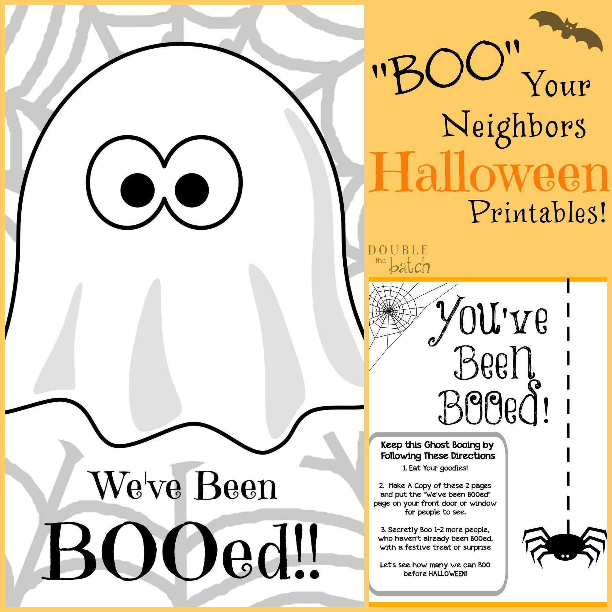 Halloween Booed Printables - Halloween Boo Gift Ideas | Pinterest