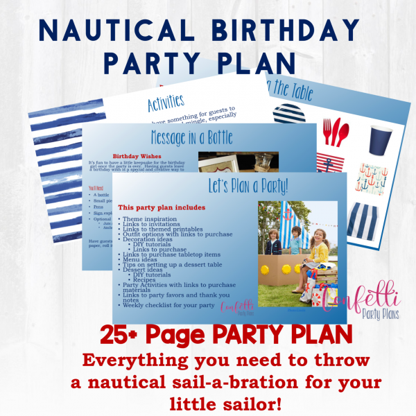 Nautical First Birthday Party, Nautical Party Planning Guide, Boating Party