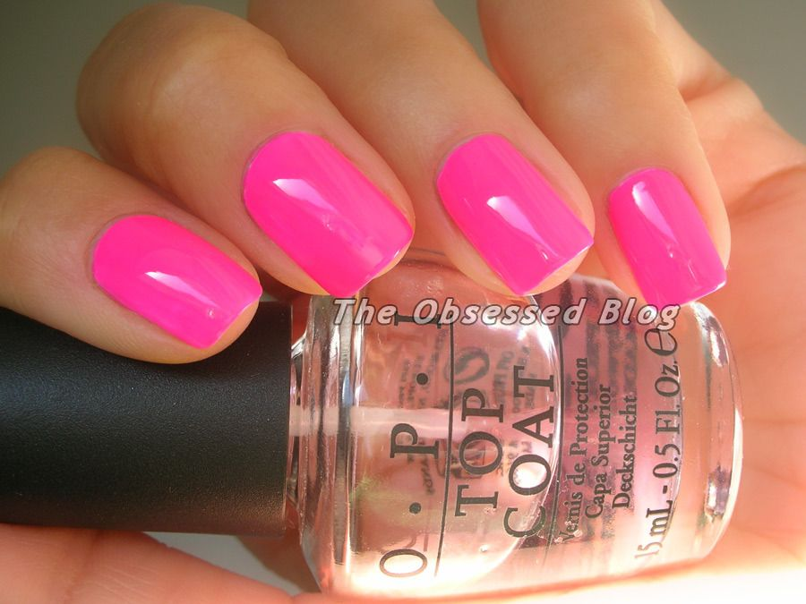 Emily Anton Nail OPI Neon Revolution Pink Outside the Box neon mini ...
