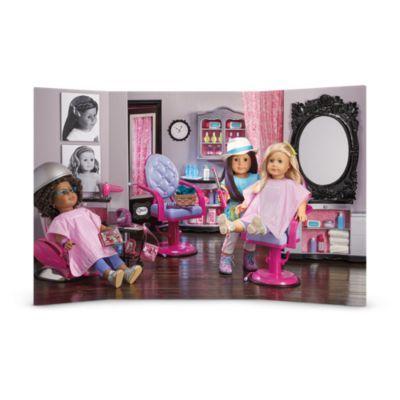 Hair Salon Scene Truly Me American Girl Hairstyles Girl Salon American Girl Doll Hairstyles