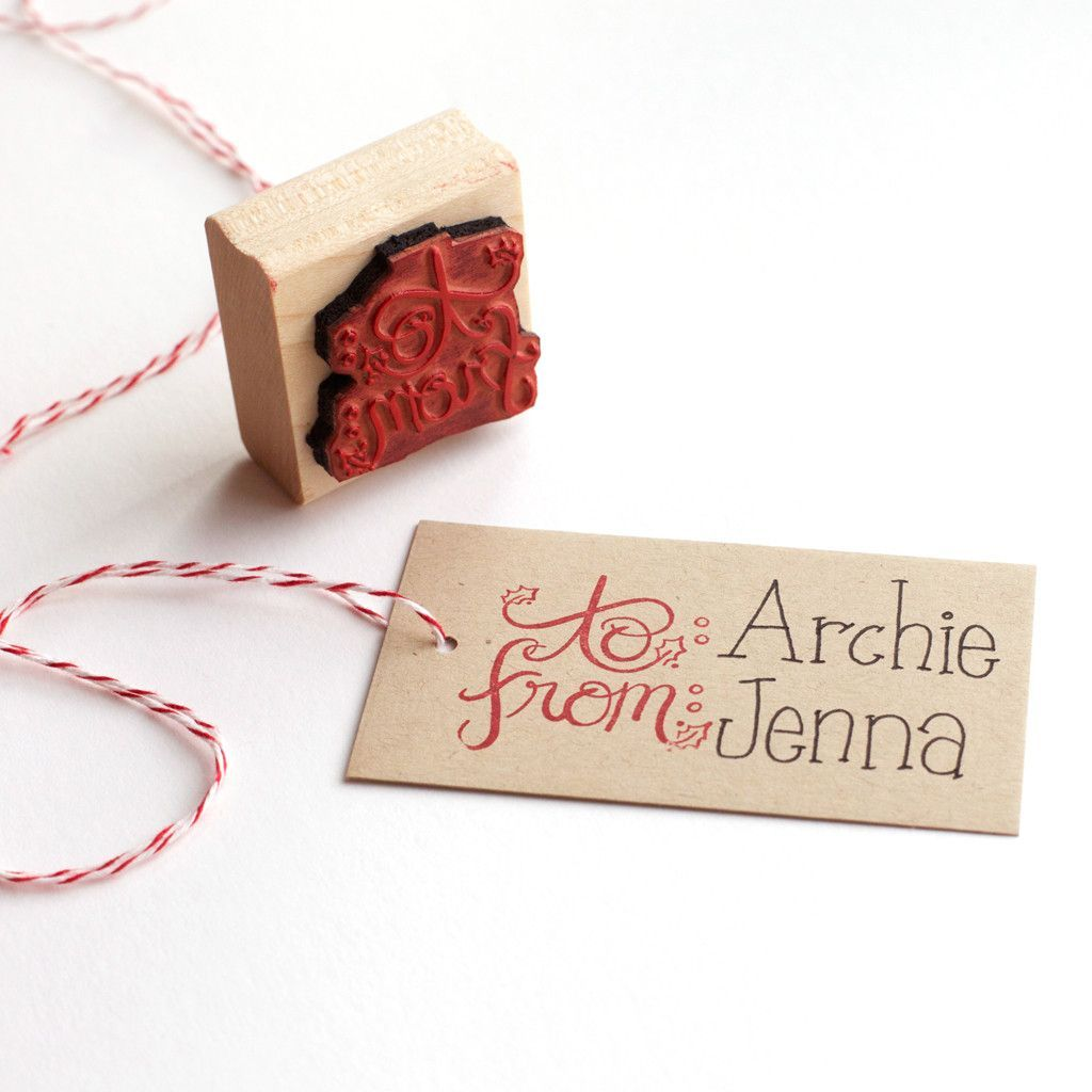 pictures Holiday Crafts: Rubber Stamp Decorations