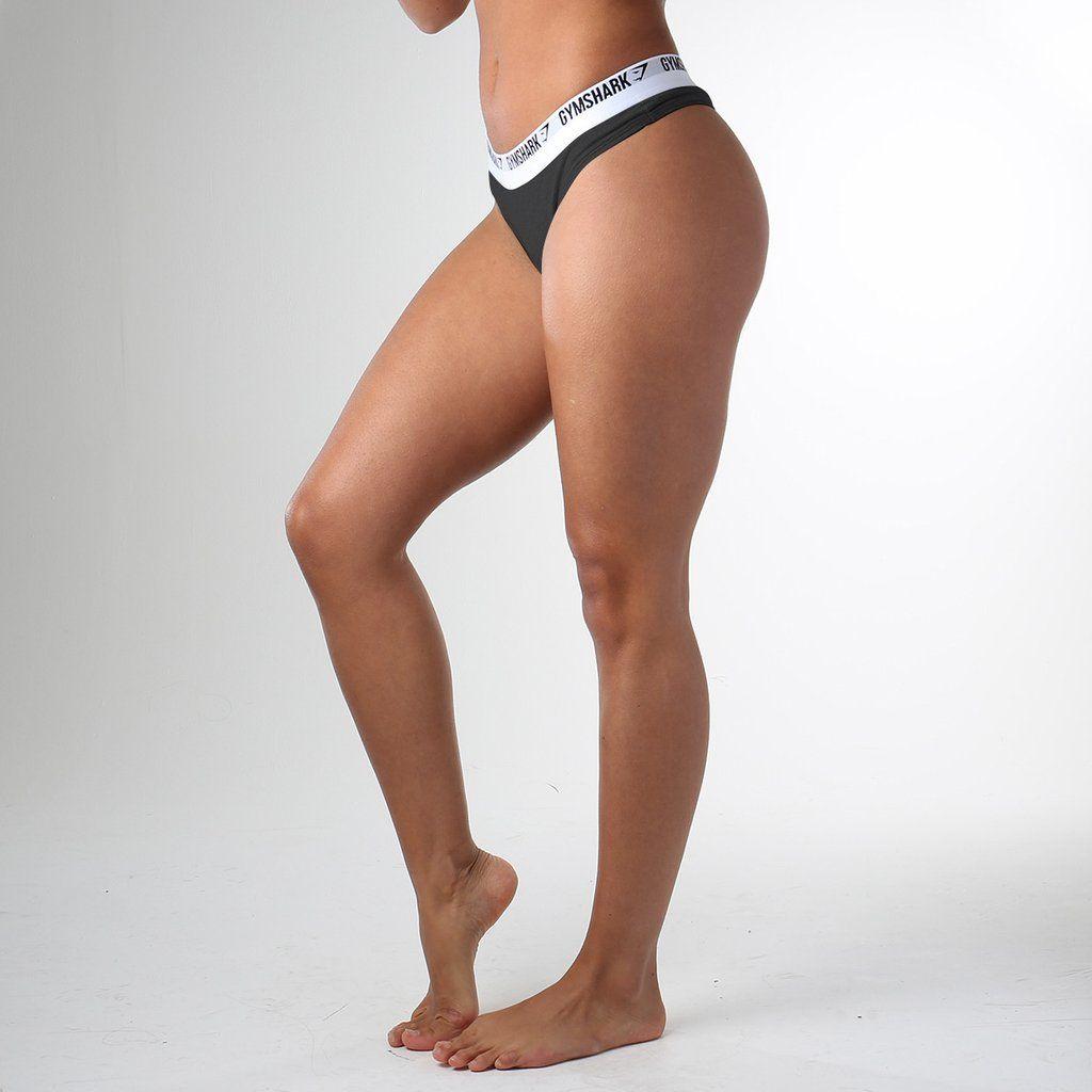 829a50278ec Gymshark Womens Jersey Thong - Black (2pk) at Gymshark Black