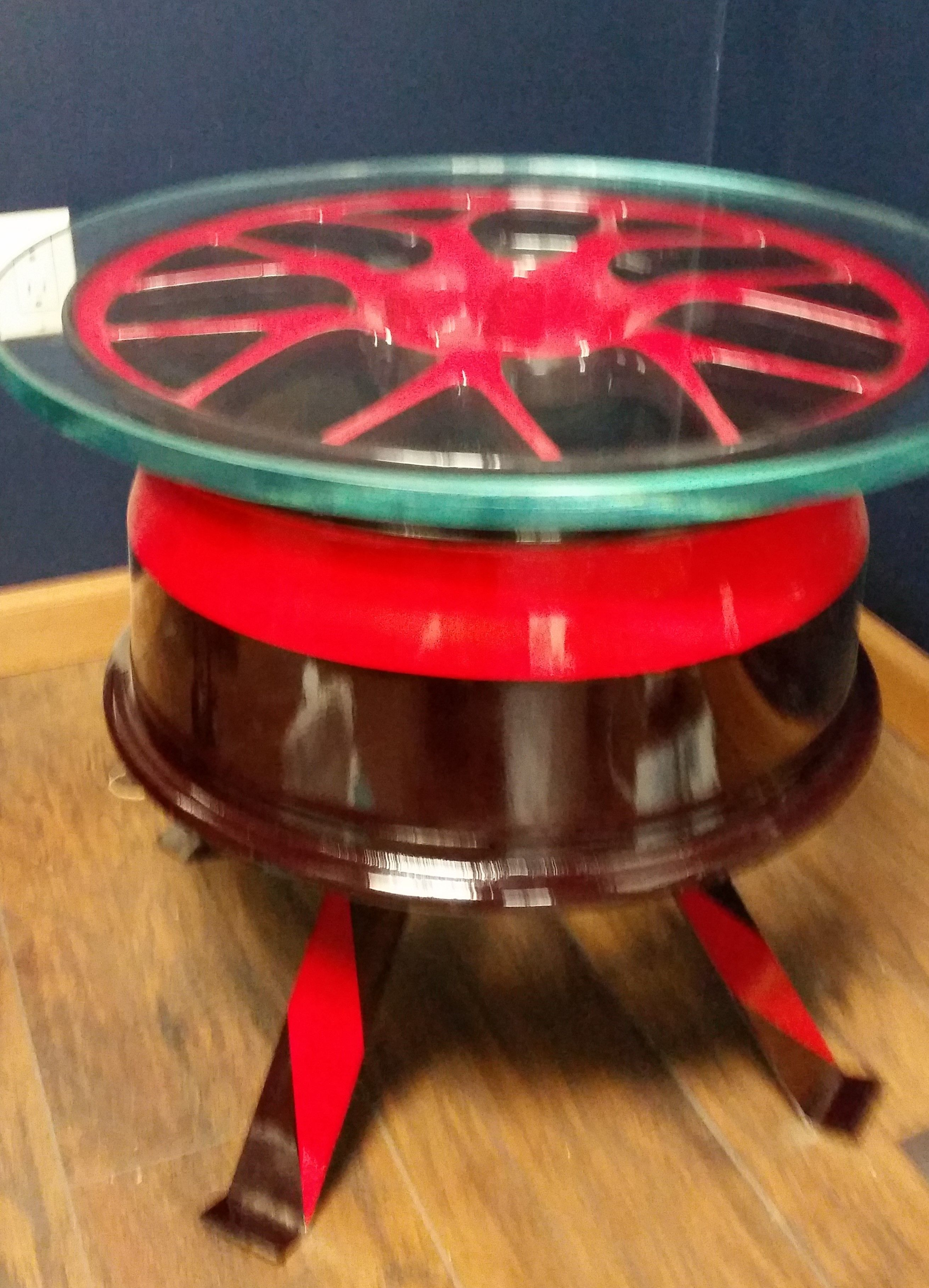 Race Car Rim Made Into End Table For Sale On Etsy 500