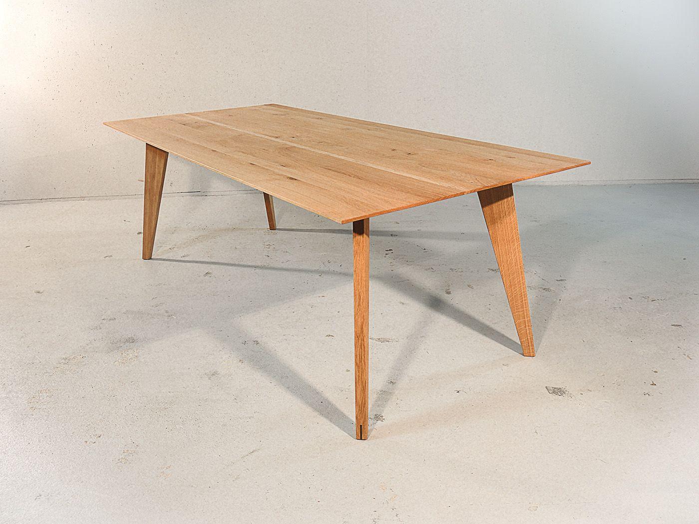 Notenhouten Design Eettafel.Modena Design Eiken Eettafel Tafel Modern Table Dining