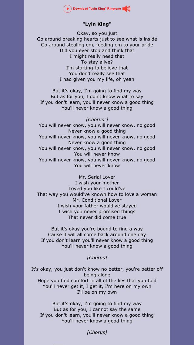 I Don T Know What I Ve Been Told Lyrics