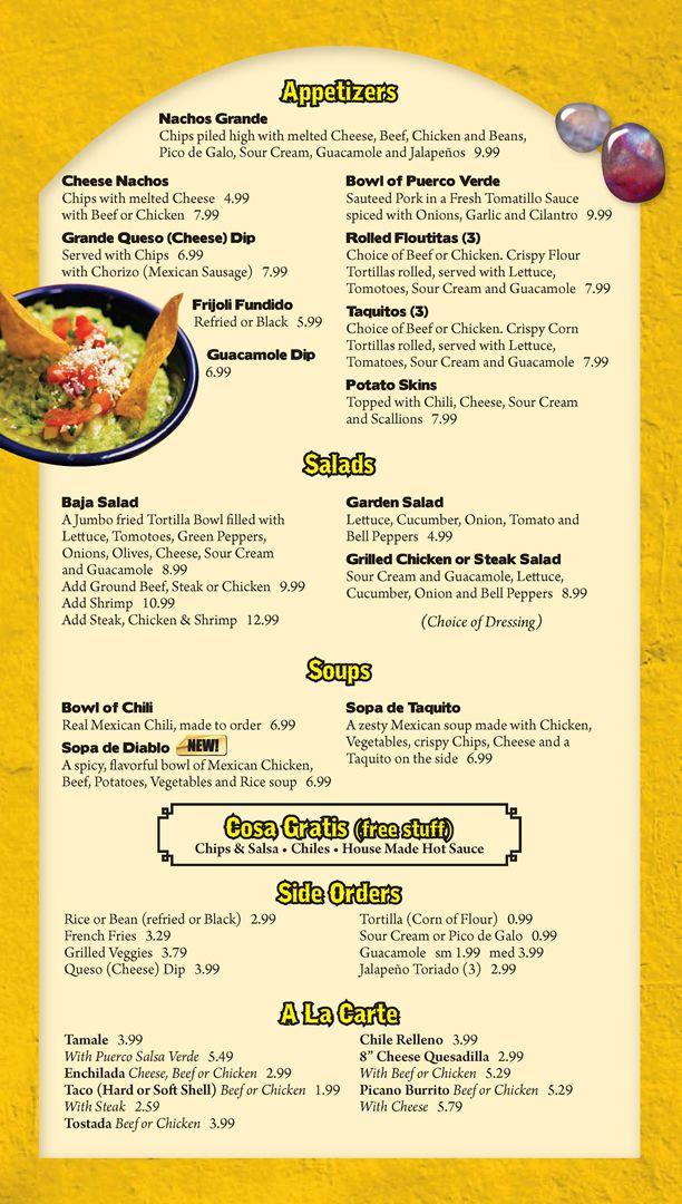 Menu Appetizers Soups Salads Free Stuff Side Order A