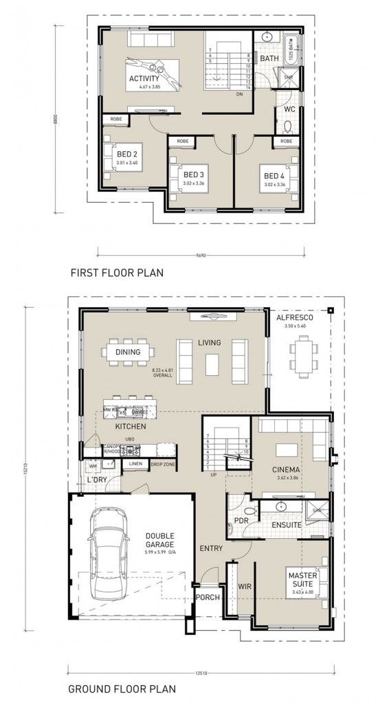This Two Storey Home Design Is Perfect For Entertaining And Will Delight All Family Members Down Hotel Room Design Plan Two Storey House Plans My House Plans