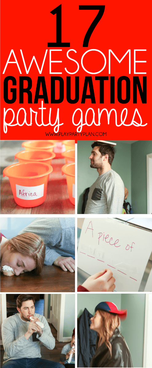 Looking for things to do at a graduation party? These graduation party games are some of the best ideas ever! They're perfect for college, high school, or even an 8th grade graduation party! We are definitely trying out these fun minute to win it games at our 2017 graduation party! #graduationparties