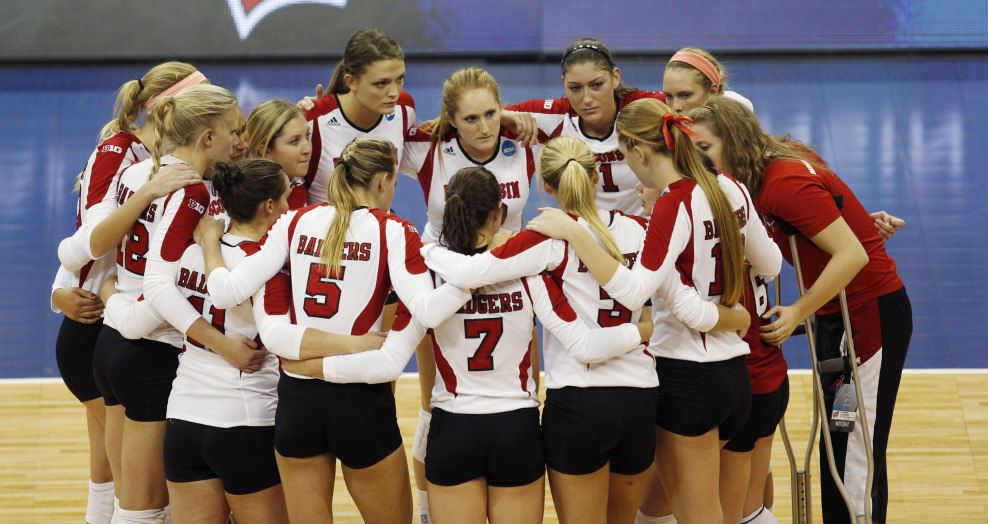 On Wisconsin Badgers Volleyball Badger Volleyball Wisconsin Badgers Female Volleyball Players