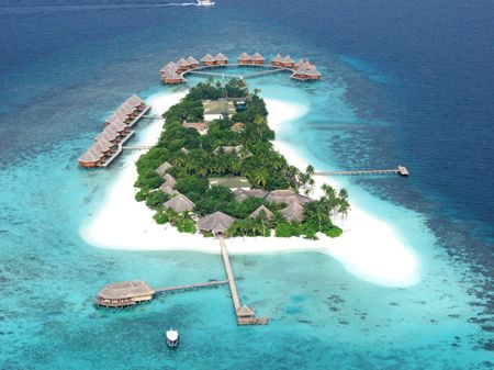 Meeru Island Resort (aerial view) Recent hotels Pinterest