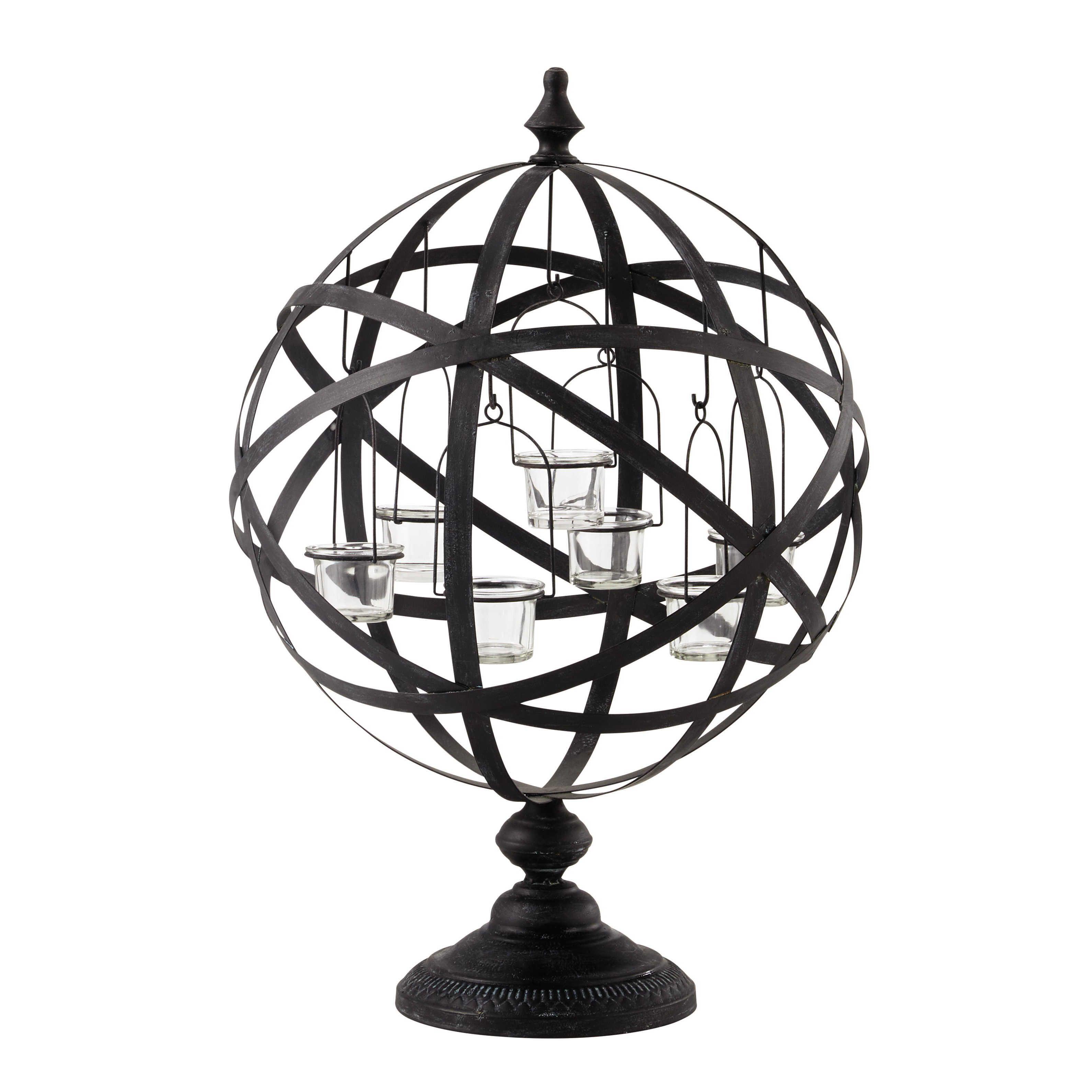 Bougeoir en métal H 7 cm CENTRAL PARK BLACK | Maison du monde ...