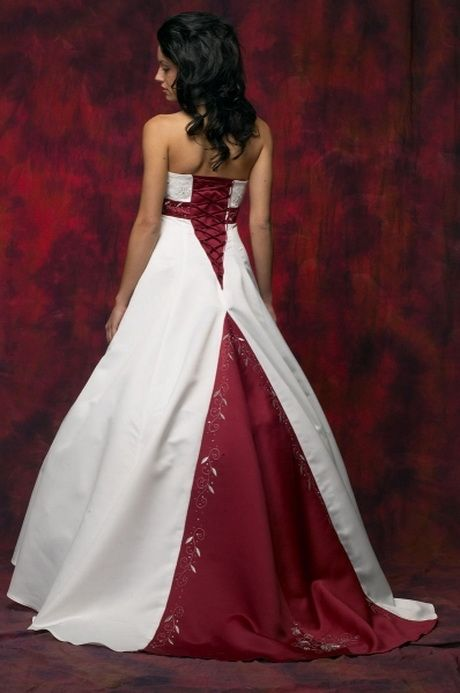 Brautkleid Weiãÿ Rot | Brautkleider Weiss Rot Hochzeit