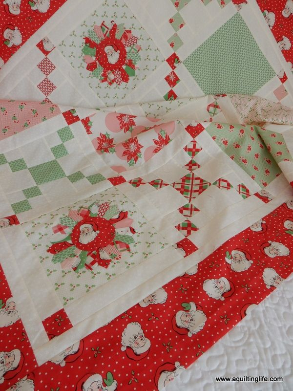 The Pot Luck quilt using the Swell Christmas collection by Urban ... : christmas quilt fabric collections - Adamdwight.com