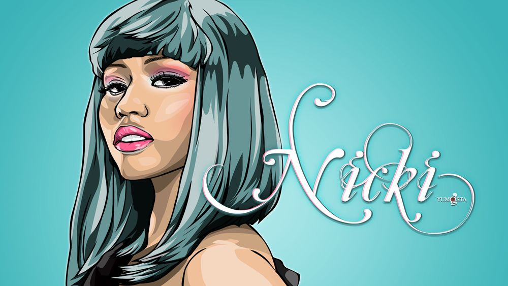 The Lively And Colorful Nicki Minaj Coloring Pages