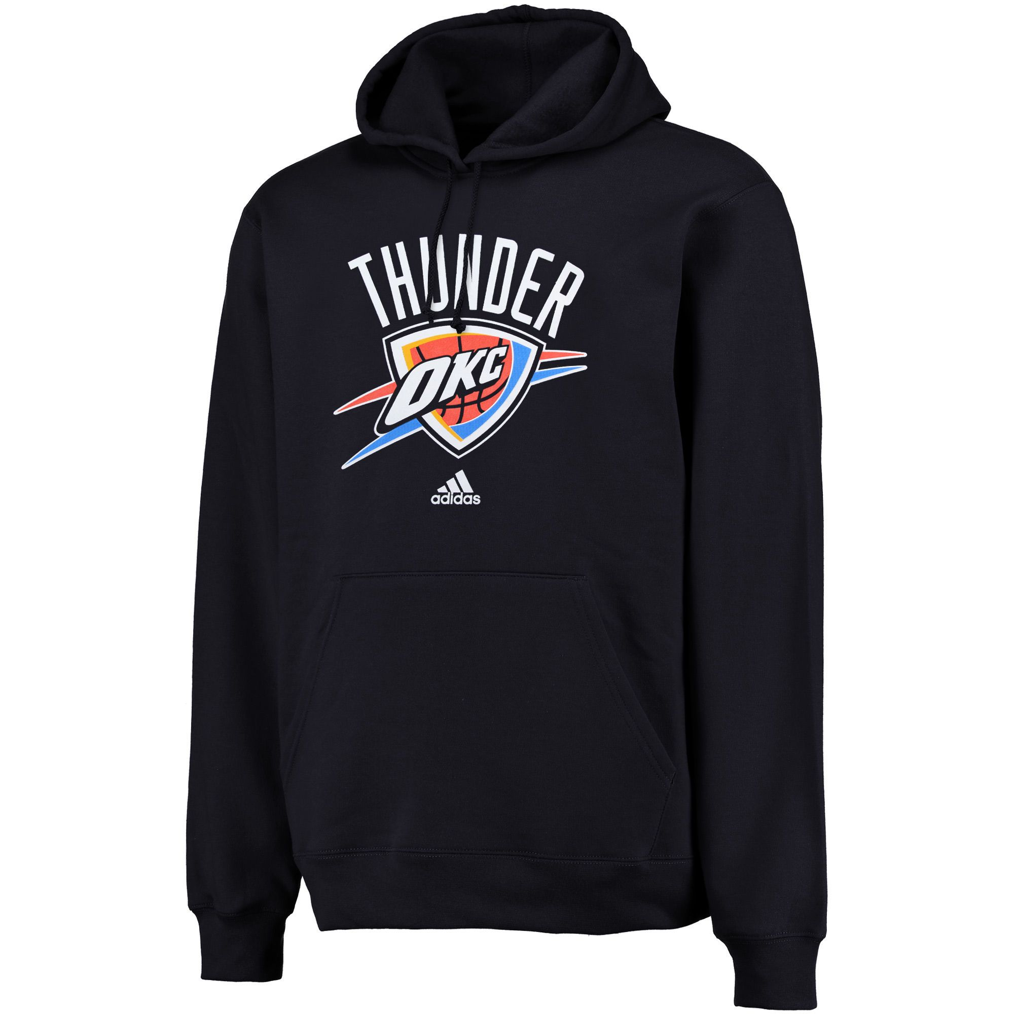 best service d1797 ac796 adidas Oklahoma City Thunder Logo Pullover Hoodie Sweatshirt - Navy