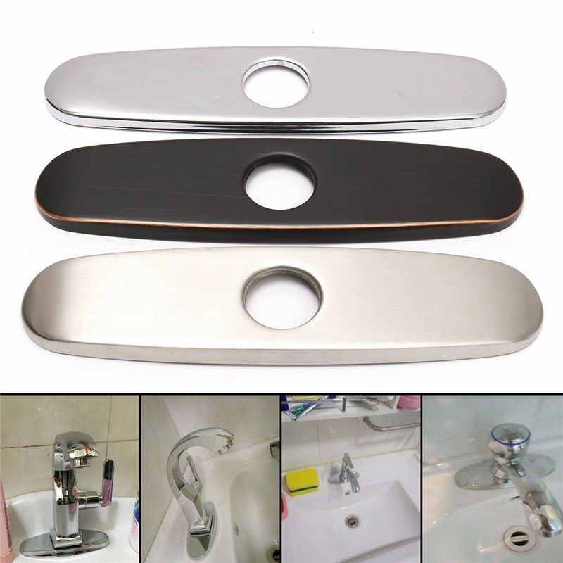 Stainless Steel Bath Sink Faucet Hole Cover Plate for Bathroom or Kitchen