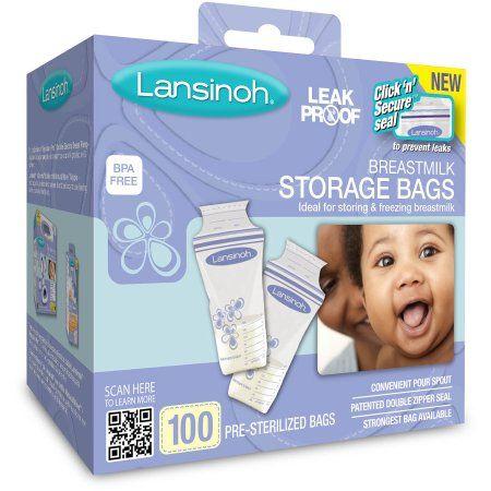 Lansinoh - Breast Milk Storage Bags 100ct, BPA-Free - Walmart.com