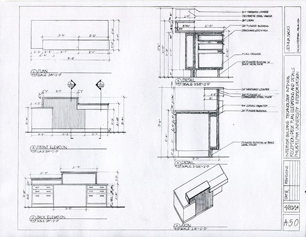 Construction Documents Office Conference Room On Philau Portfolios Construction Documents Reception Desk Plans Furniture Details Drawing
