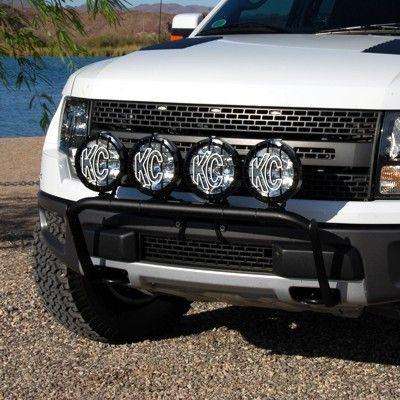 4 Tab Front End Light Bar For Ford Raptor 2010 2015 Black Kc 74281 Ford Raptor Ford Raptor Lighting Bar Lighting
