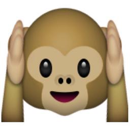 Hear No Evil Monkey Emoji U 1f649 Monkey Emoji Emoji Cute Monkey