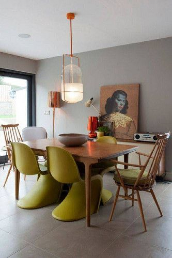 DOMINO:35 times danish design made a room #diningroomdecor #dining #room #decor #eclectic