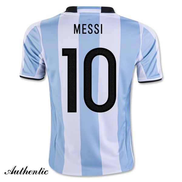 61cbfe95548 Lionel Messi Authentic Home Soccer Jersey 2016 Argentina  10