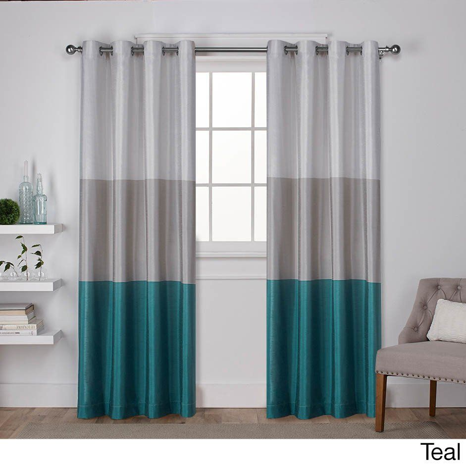 Porch Den Ocean Striped Window Curtain Panel Pair With Grommet