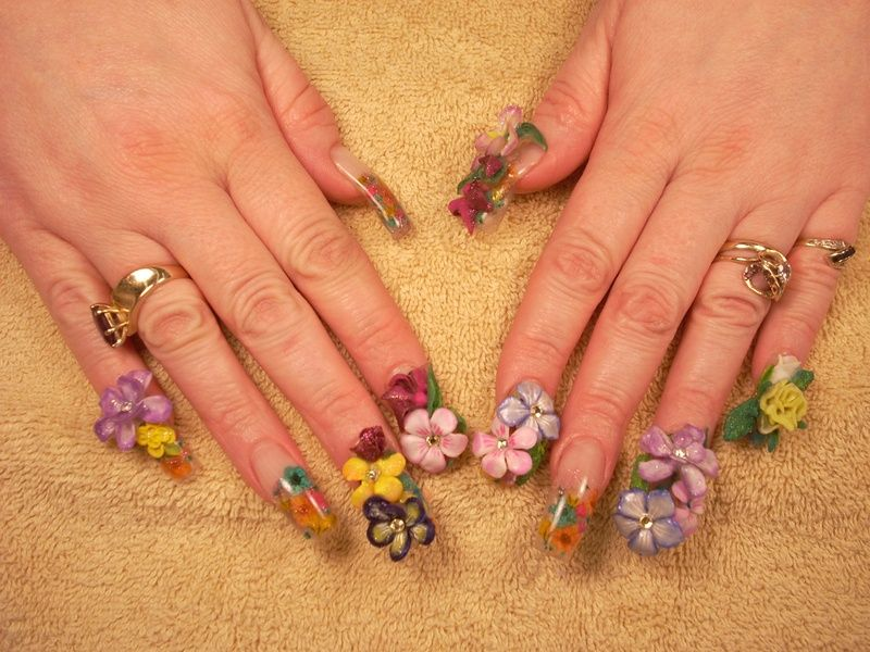 Flower Nail Art 3d Gel Flowers Nail Art Photo Flower Nail Art Nail Art Photos Gel Nail Designs