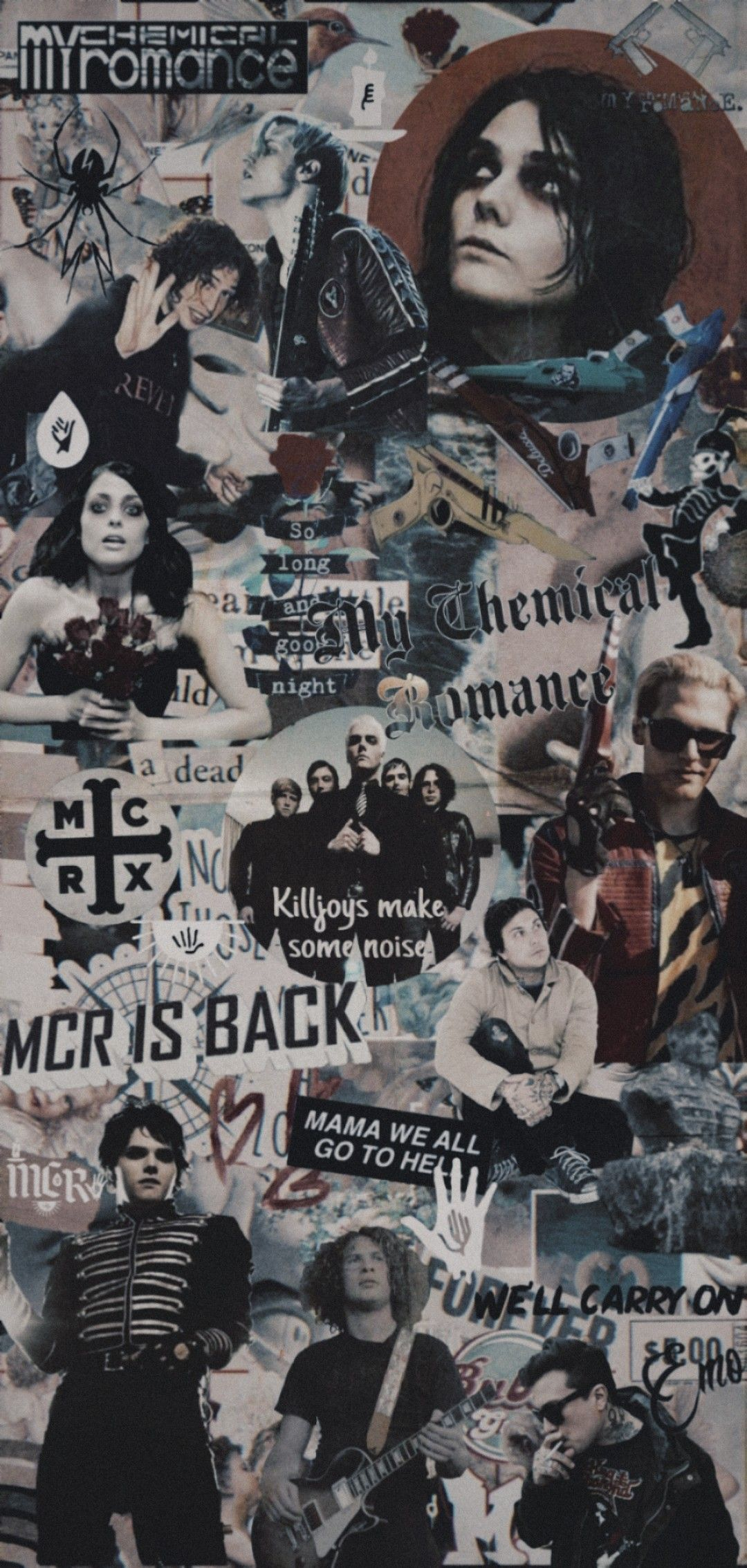 Wallpaper Mcr Aesthetic My Chemical Romance Gerard Way Mikey Way Frank Iero Ray Toro Helena Kil In 2020 My Chemical Romance My Chemical Romance Wallpaper Emo Wallpaper
