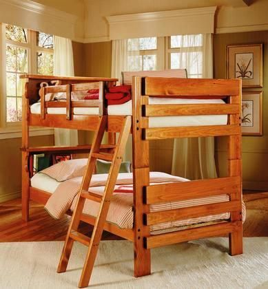 3610001 Twin Over Twin Bookcase Bunk Bed in #WoodworkingPlansBed
