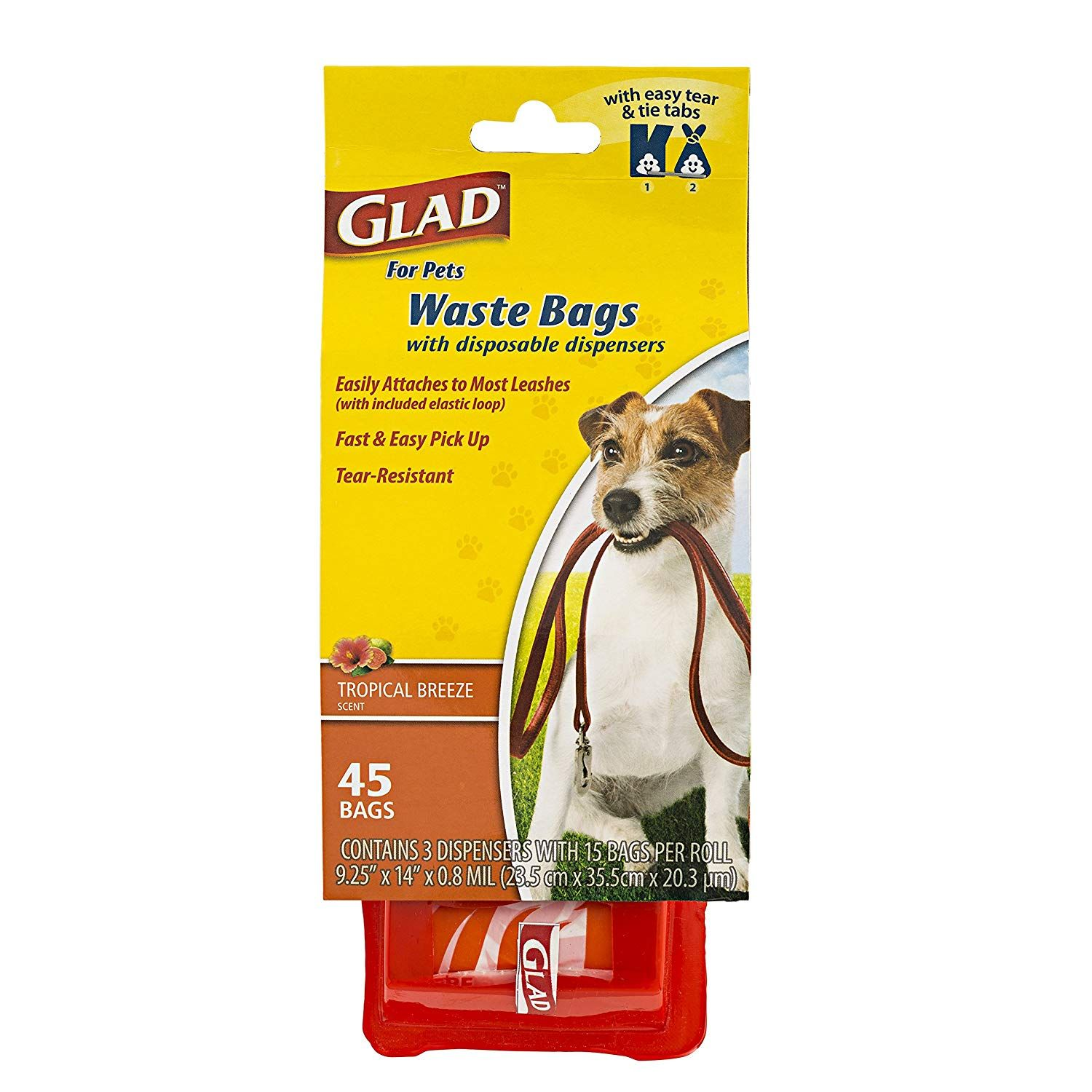 Glad for Pets Extra Large Dog Waste Bags with Disposable