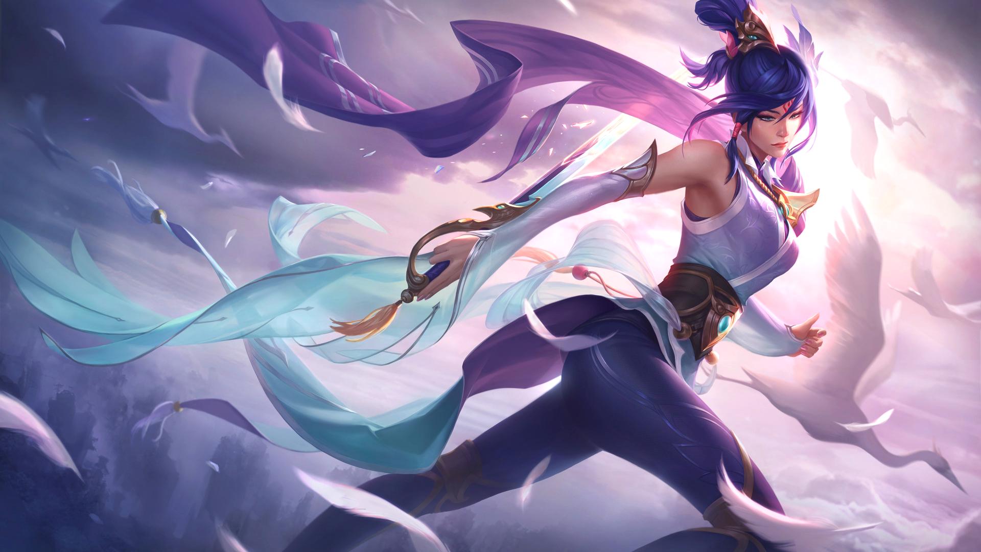 League Of Legends Lol Wallpaper Skin Fiora Espada Alada