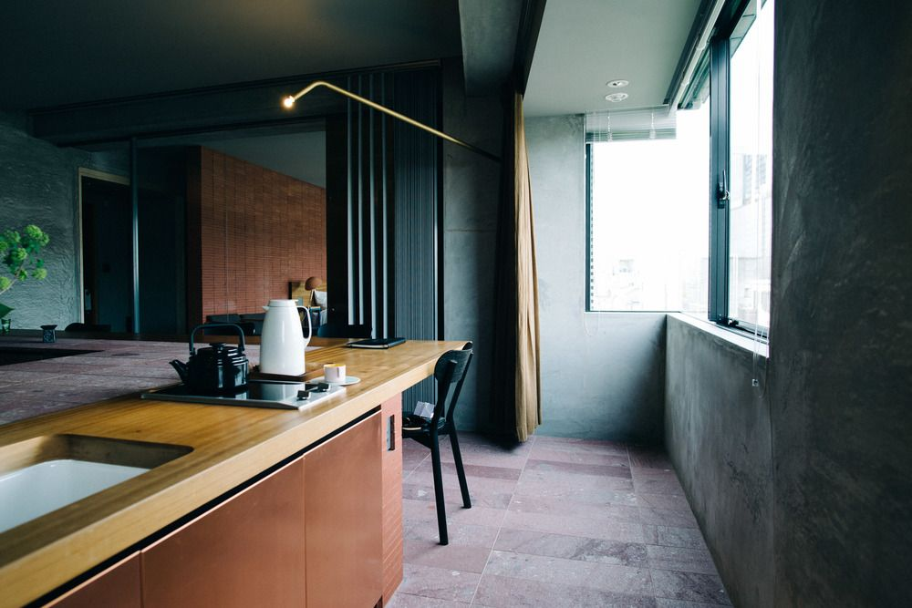 Lovely Bijuu Design Hotel In Kyoto, Japan. Luxury Suite Of Minimalistic  Architecture And Industrial Design Gallery