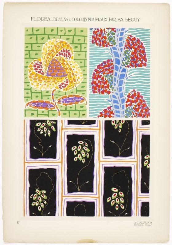 Floréal dessins & coloris nouveaux by E.A. Seguy.