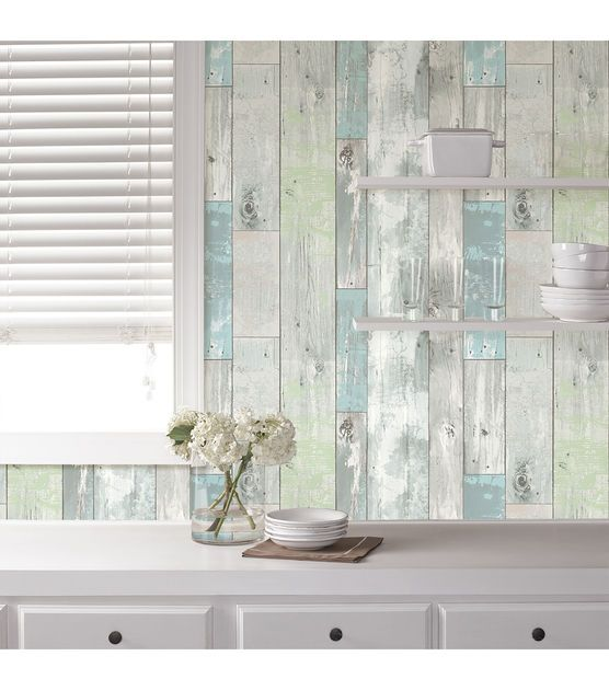 WallPops NuWallpaper? Beachwood Peel And Stick Wallpaper | Face lifting, Oasis and Wallpaper