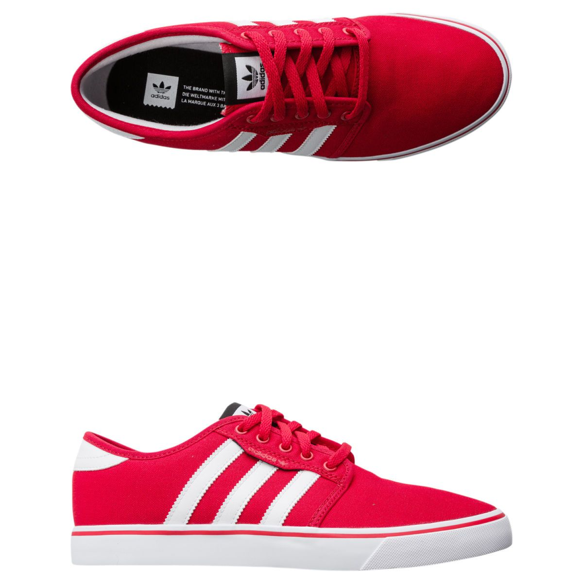 brand new dad59 89273 Adidas Men s Seeley Scarle Ftwwht Cblack Skate Shoe 11 Men US. Adidas  Seeley shoe