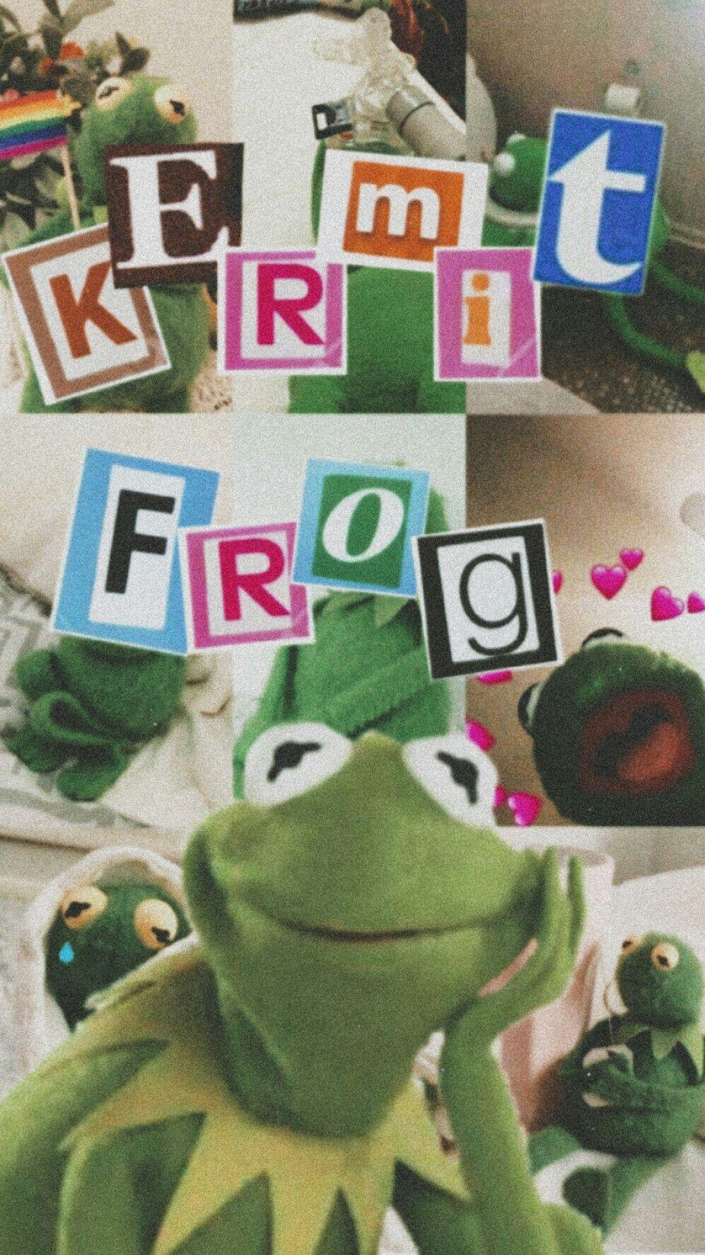 Kermitfrog Aesthetics Edit Editing Frog Wallpaper Cute Tumblr Wallpaper Funny Phone Wallpaper