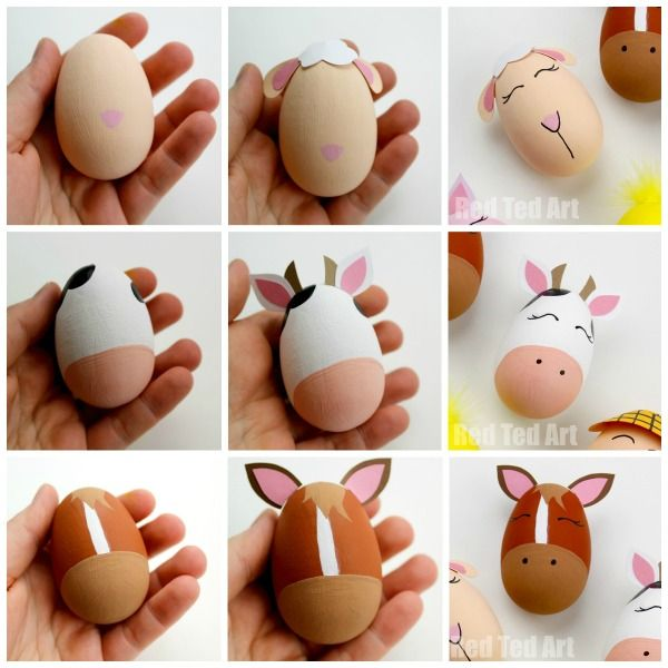 Photo of Old MacDonald Had a Farm Egg Decorating Ideas – Red Ted Art – Make crafting with kids easy & fun