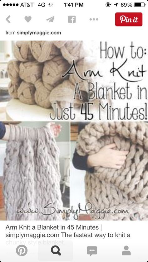 Breien met je arm..... | Arm Knitting | Pinterest