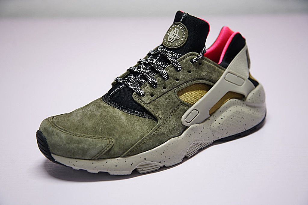 quite nice good selling clearance prices NIKE AIR HUARACHE ID ULTRA RUN OLIVE GREEN MATTE 008243220 ...