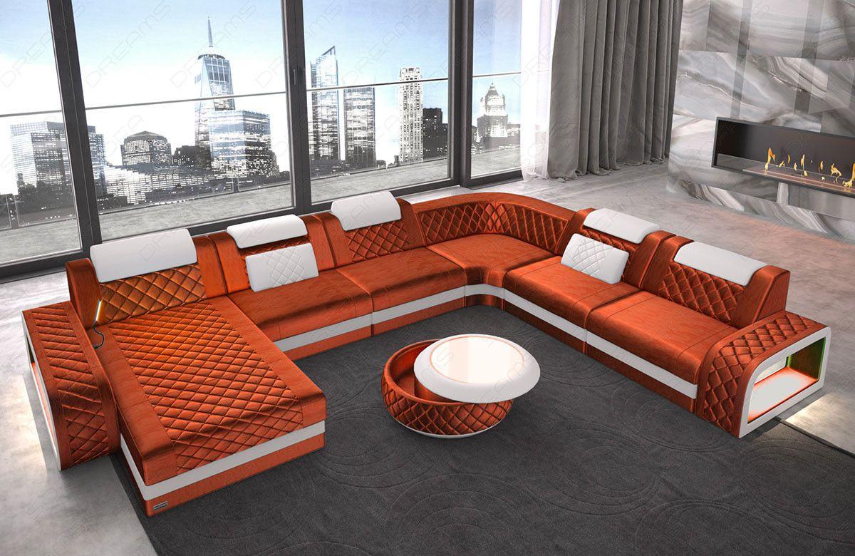 Wohnlandschaft Berlin Xxl Stoffbezug Sofa Design Ecksofa Design Wohnzimmer Sofa