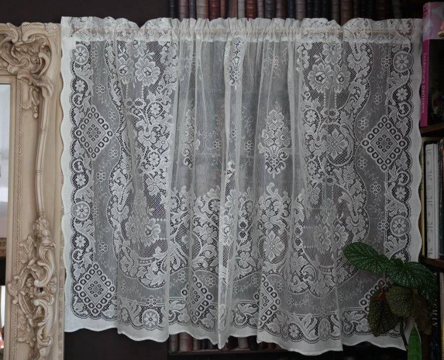 Jessica Laura Ashley Victorian Style Cream Cotton Lace Curtain