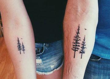 Simbolos De Union Los Tatuajes De Arboles Para Parejas Tatuajes