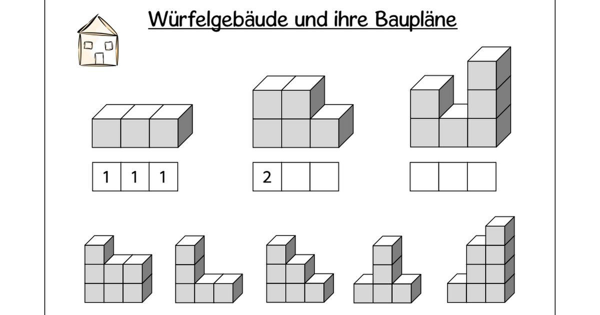 3 ABs Würfelbauten.pdf | Geometry | Pinterest | Pdf and Math